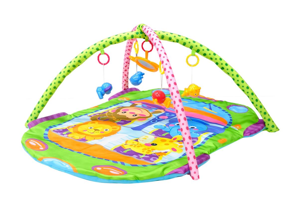 цены на Развивающий коврик Everflo Jungle, ПП100004341, зеленый  в интернет-магазинах