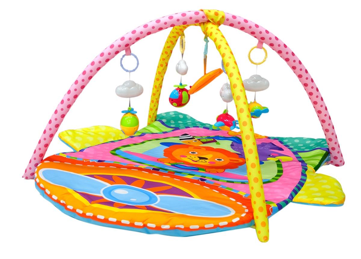 Развивающий коврик Everflo Jungle, ПП100004342, оранжевый развивающий коврик everflo baby hs0368143 8143 green