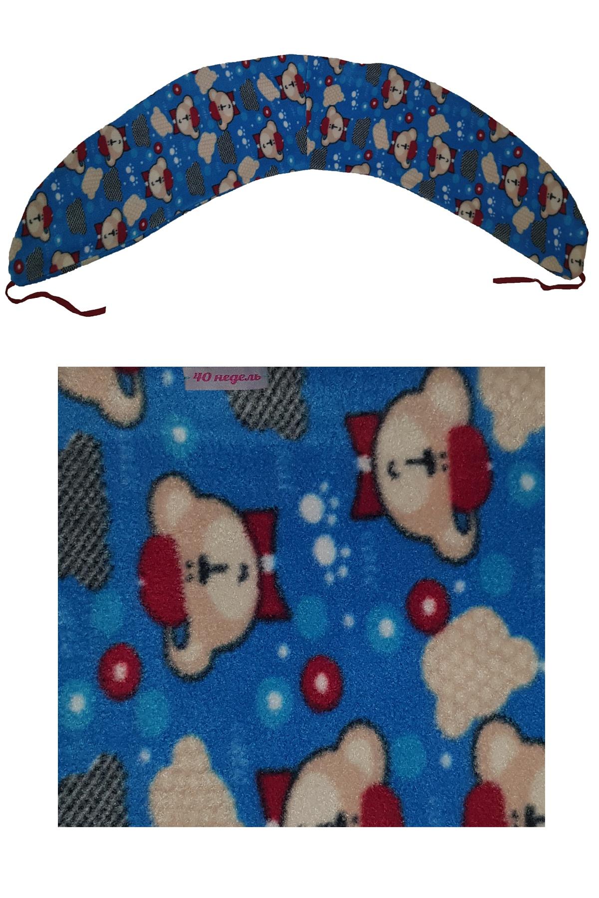 Наволочка ООО 40 недель на подушку для беременных, НБХФЭ7-170, бежевый, голубой, 30*170 см theraline чехол для подушки для беременных 170 см цвет бежевый