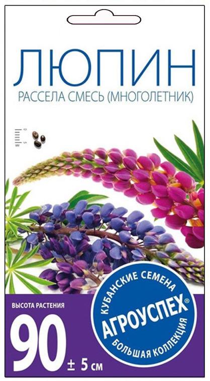 Семена Агроуспех Люпин Рассела смесь М, 07330, 0,3 г07330Красивоцветущее растение семейства бобовых. Стебель высотой до 100 см. Соцветие - плотная, многоцветковая кисть длиной до 45 см. Окраска цветков весьма разнообразна: белая, кремовая, желтая, розовая, красная, фиолетовая, синяя и голубая. Цветет с первых чисел июня в течение 30-40 дней. Светолюбив, но выносит легкую полутень. Хорошо растет на любых нетяжелых почвах с pH 5,5-6,0. Размножается семенами. Высевать лучше под зиму свежесобранные семена. Используют люпины в групповых посадках большими массивами на дальнем плане, на газонах или вместе с другими многолетниками в смешанных рабатках. Рекомендуем!