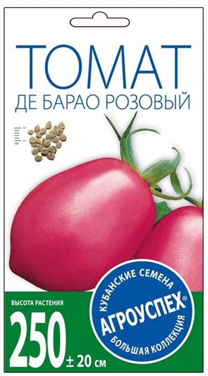 Семена Агроуспех Томат Де Барао розовый поздний И, 17682, 0,1 г семена агроуспех лук порей карантанский поздний 25495 1 г
