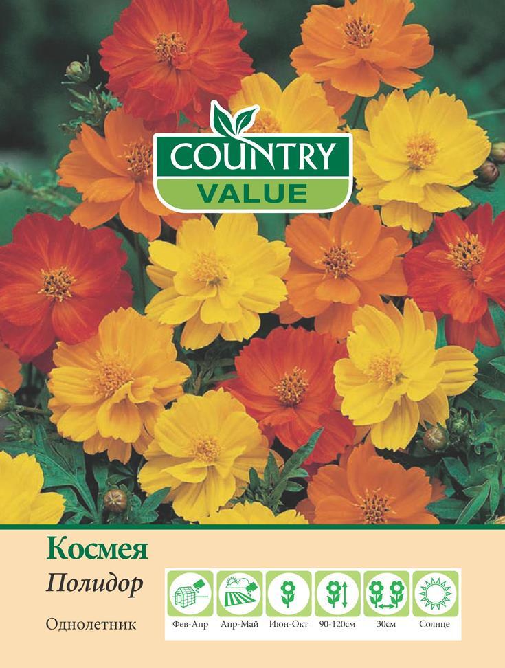 """Семена Country Value """"Космея Полидор"""", 20304, 50 шт"""