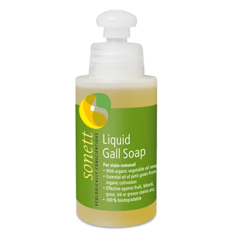 Мыло для стирки Sonett Жидкое мыло для удаления пятен, для цветного и белого белья из хлопка/льна/джута/смешанных тканей. Экологически чистое, органическое. 120мл