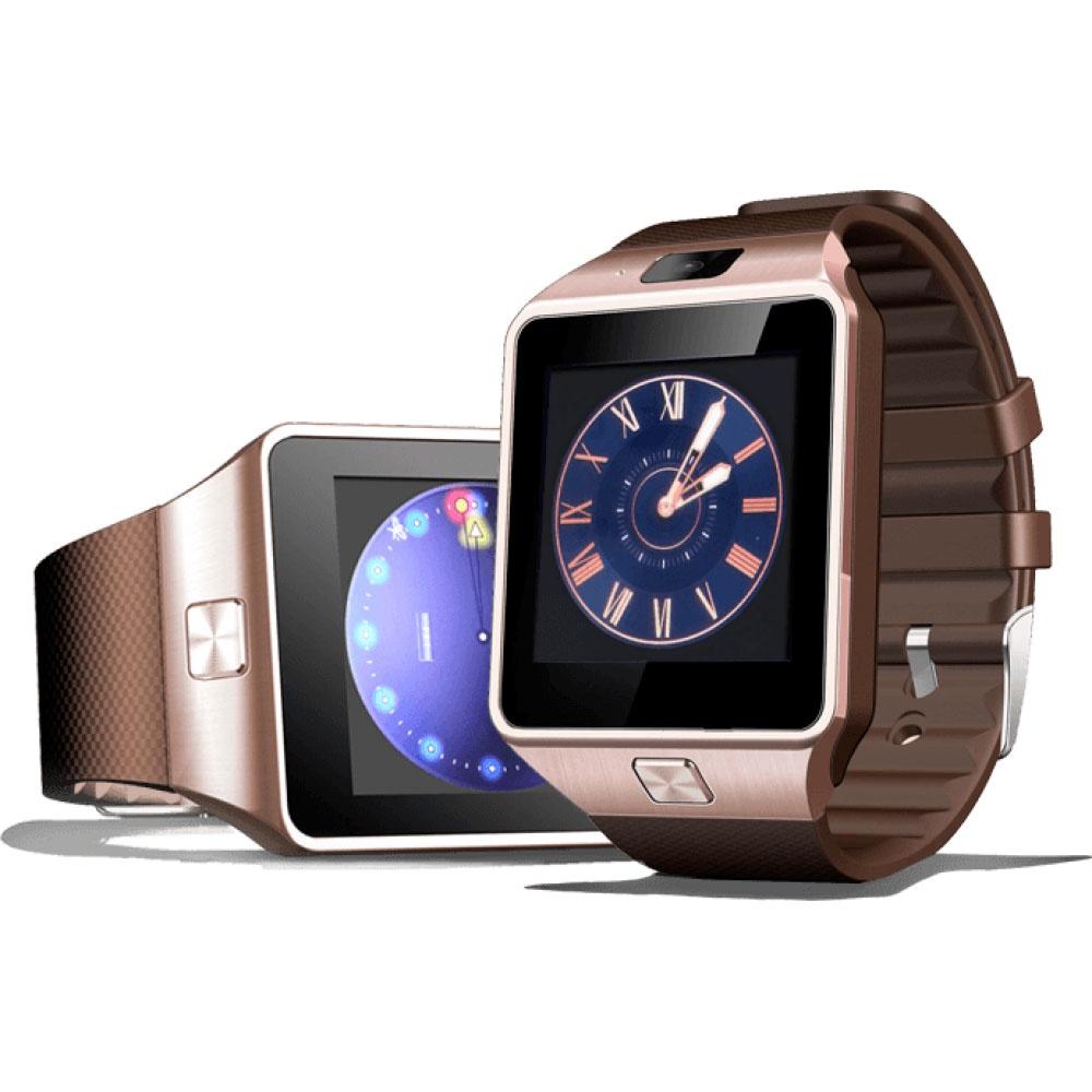 Умные часы ZDK DZ09 коричневый умные часы ginzzu® gz 701 black 50м android ios bluetooth мониторинг сна калорий физ активности