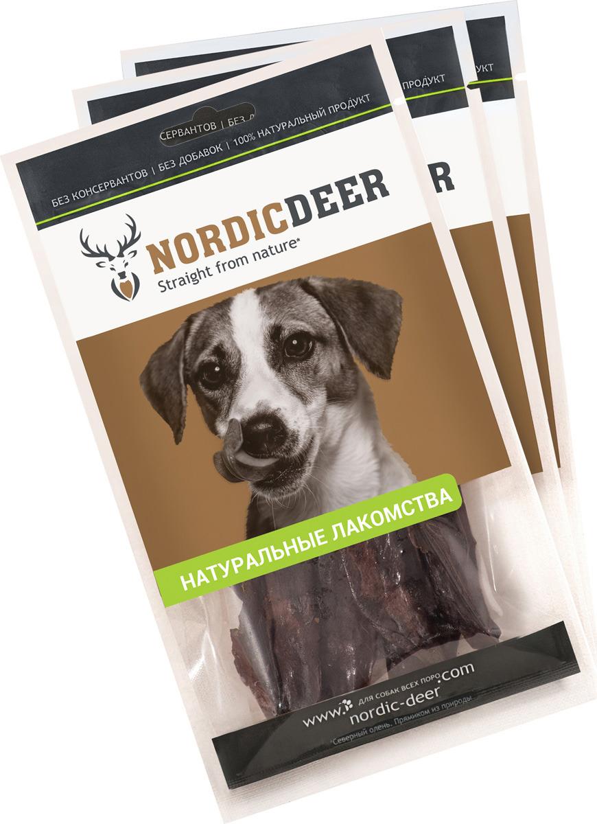 Лакомство для собак Nordic Deer Печень баранина, 4610030881058, 3 шт по 40 г лакомство для собак nordic deer печень говяжья 3 шт по 40 г