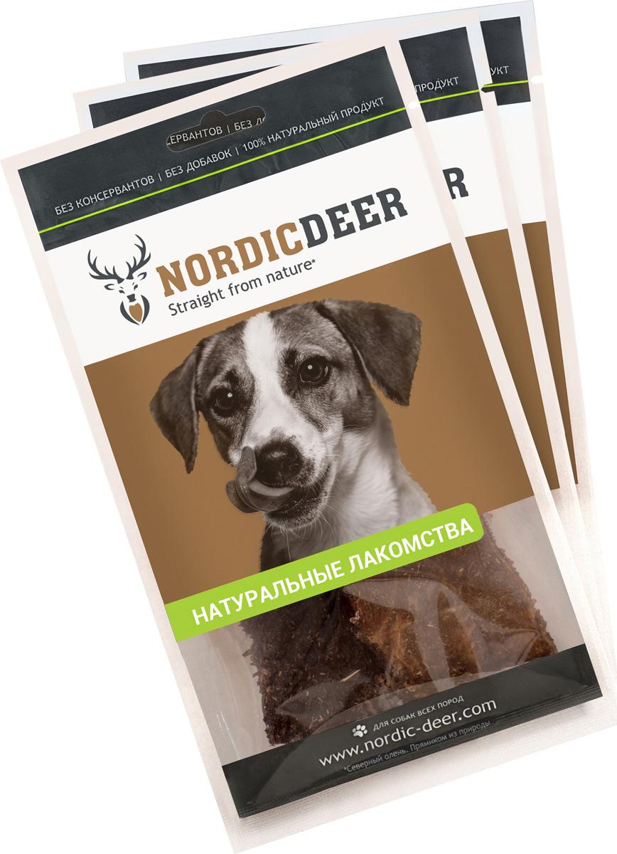 Лакомство для собак Nordic Deer Рубец говяжий, 4610030881065, 3 шт по 40 г лакомство для собак nordic deer печень говяжья 3 шт по 40 г