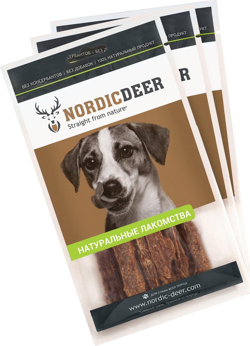 Лакомство для собак Nordic Deer Вымя говяжье, 4610030881072, 3 шт по 40 г лакомство для собак nordic deer печень говяжья 3 шт по 40 г