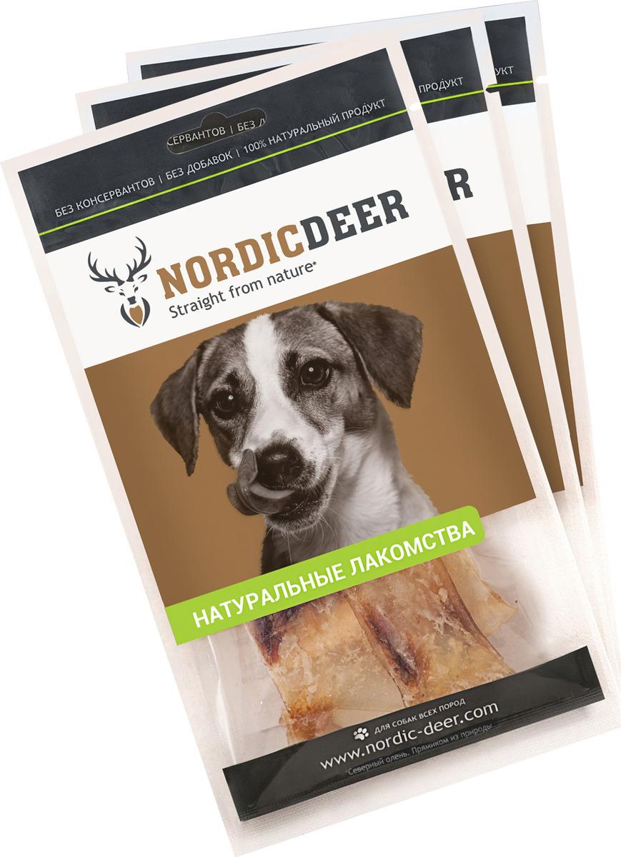 Лакомство для собак Nordic Deer Лопатка говяжья, 3 шт по 40 г лакомство для собак nordic deer печень говяжья 3 шт по 40 г