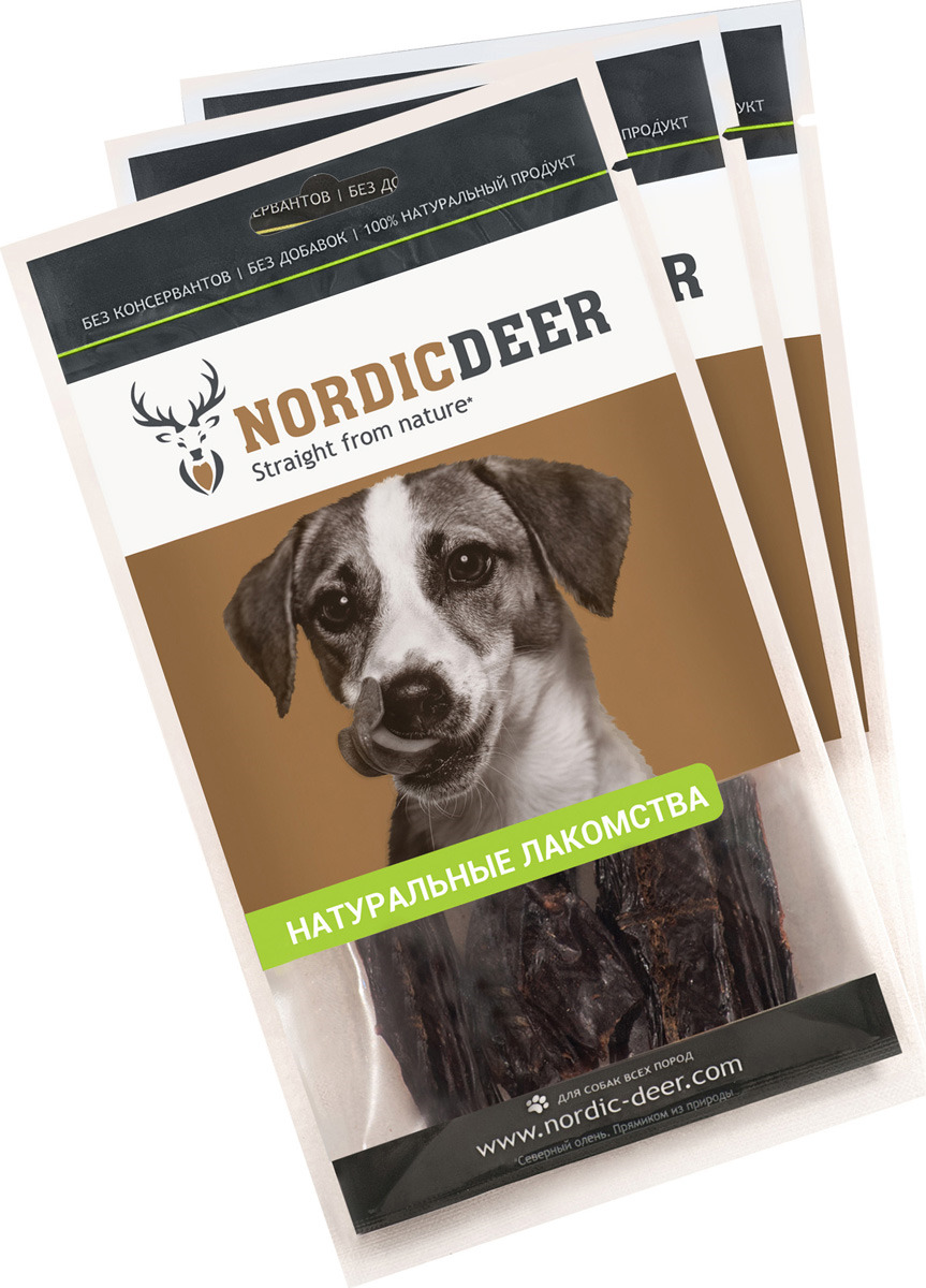 Лакомство для собак Nordic Deer Селезенка говяжья, 4610030881096, 3 шт по 40 г лакомство для собак nordic deer печень говяжья 3 шт по 40 г