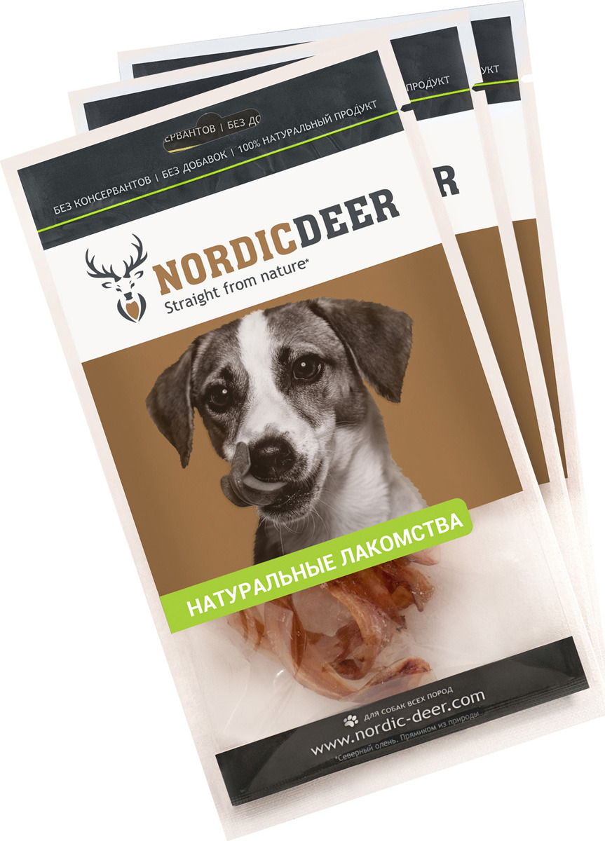 Лакомство для собак Nordic Deer Трахея говяжья кольца, 4610030881119, 3 шт по 40 г лакомство для собак nordic deer печень говяжья 3 шт по 40 г