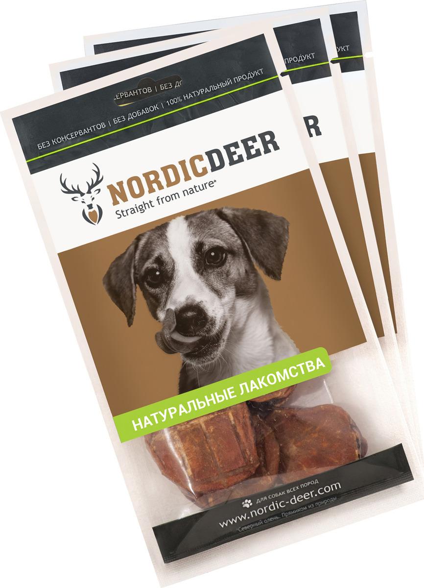 Лакомство для собак Nordic Deer Семенники говяжьи, 4610030881126, 3 шт по 40 г лакомство для собак nordic deer печень говяжья 3 шт по 40 г