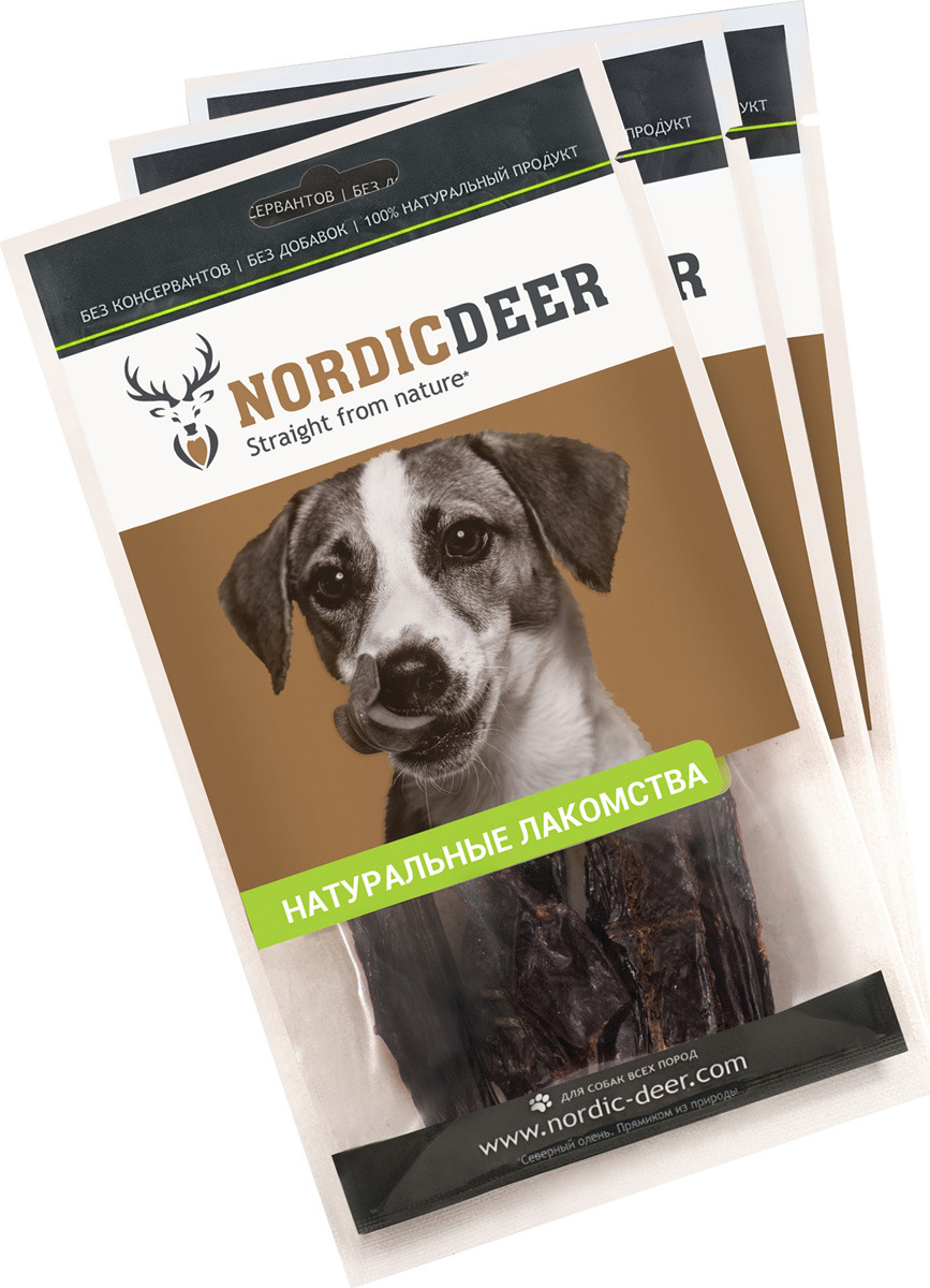 Лакомство для собак Nordic Deer Селезенка баранья, 4610030881140, 3 шт по 40 г лакомство для собак titbit голень баранья 2 шт