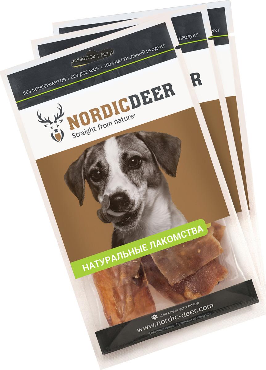Лакомство для собак Nordic Deer Аорта, 3 шт по 40 г лакомство для собак nordic deer печень говяжья 3 шт по 40 г