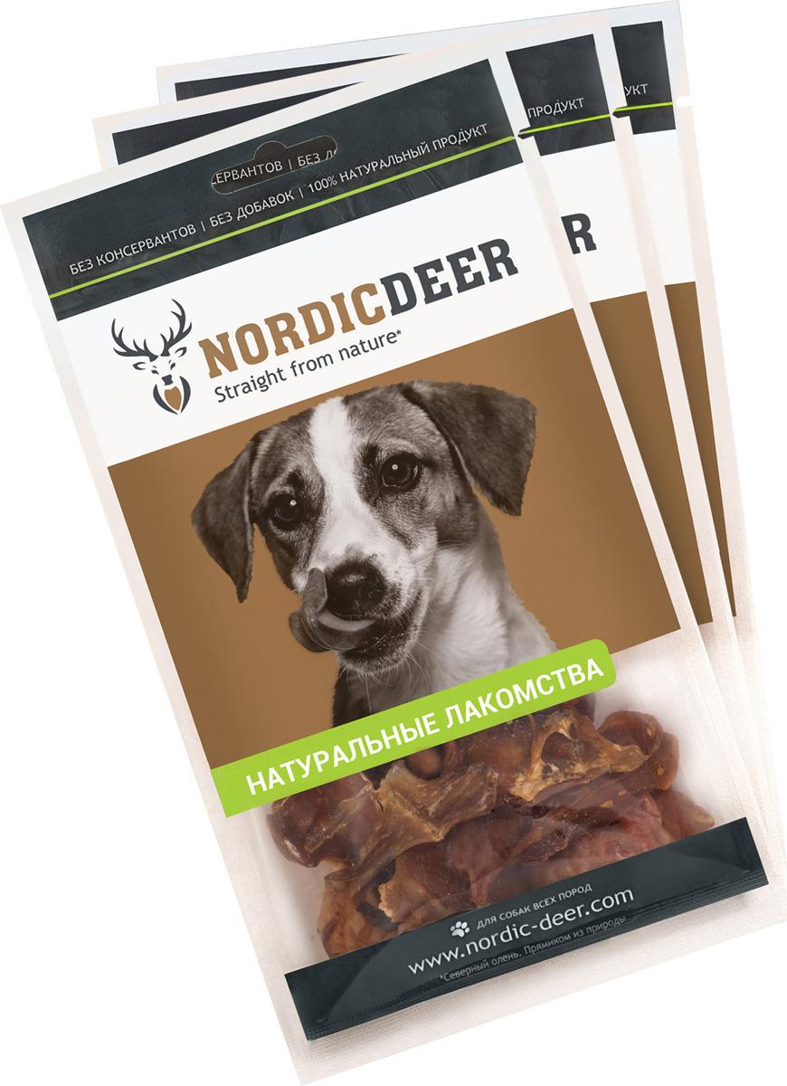 Лакомство для собак Nordic Deer Семенники баранина, 4610030881195, 3 шт по 40 г лакомство для собак nordic deer печень говяжья 3 шт по 40 г