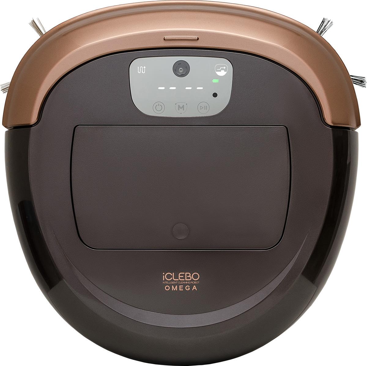 Робот-пылесос iClebo Omega, YCR-M07-10, черный, золотистый пылесос робот iclebo
