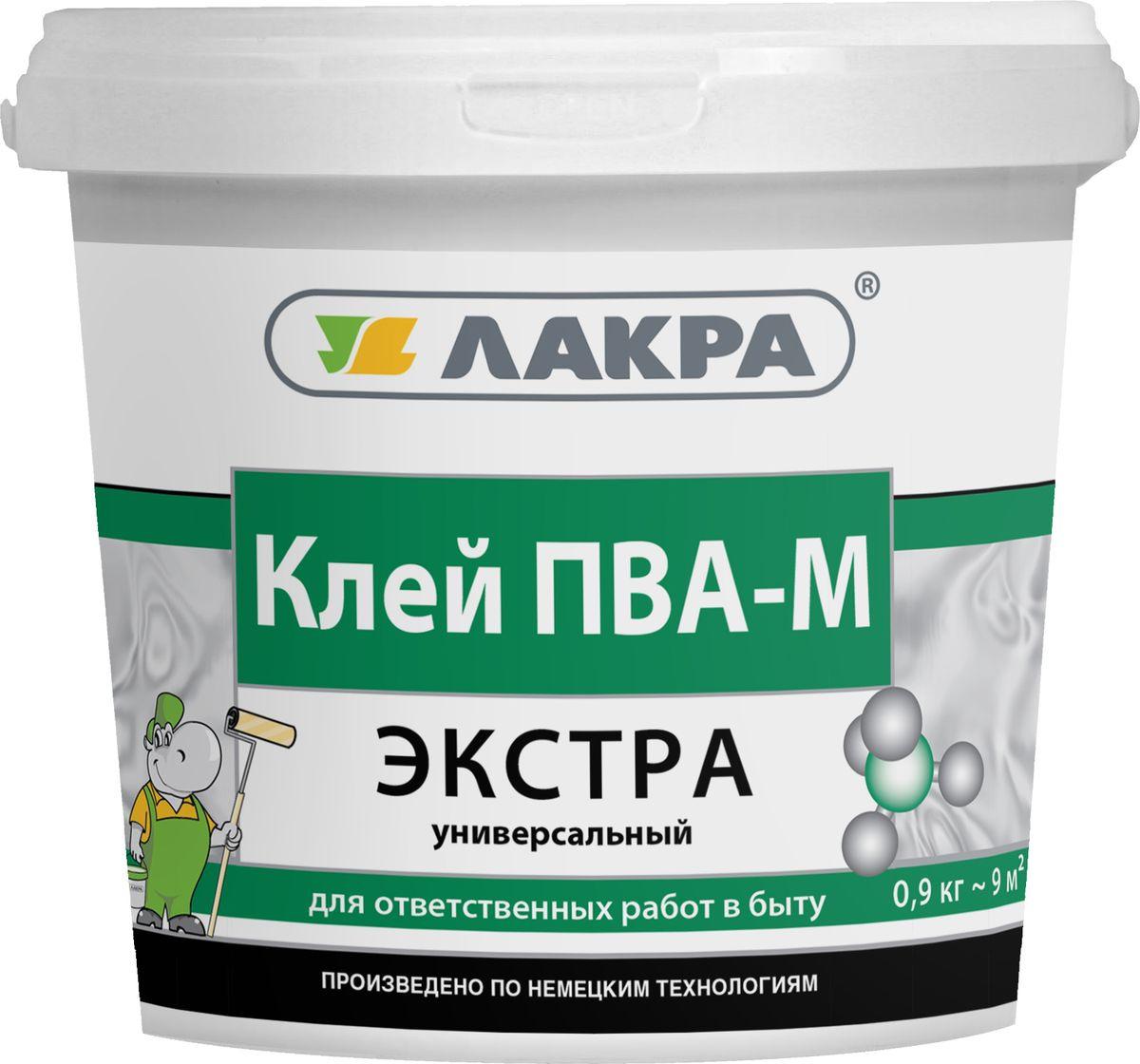 Клей Лакра ПВА-М Экстра, универсальный, 4603292010311, бесцветный, 0.9 кг л м ковальчук производство деревянных клееных конструкций