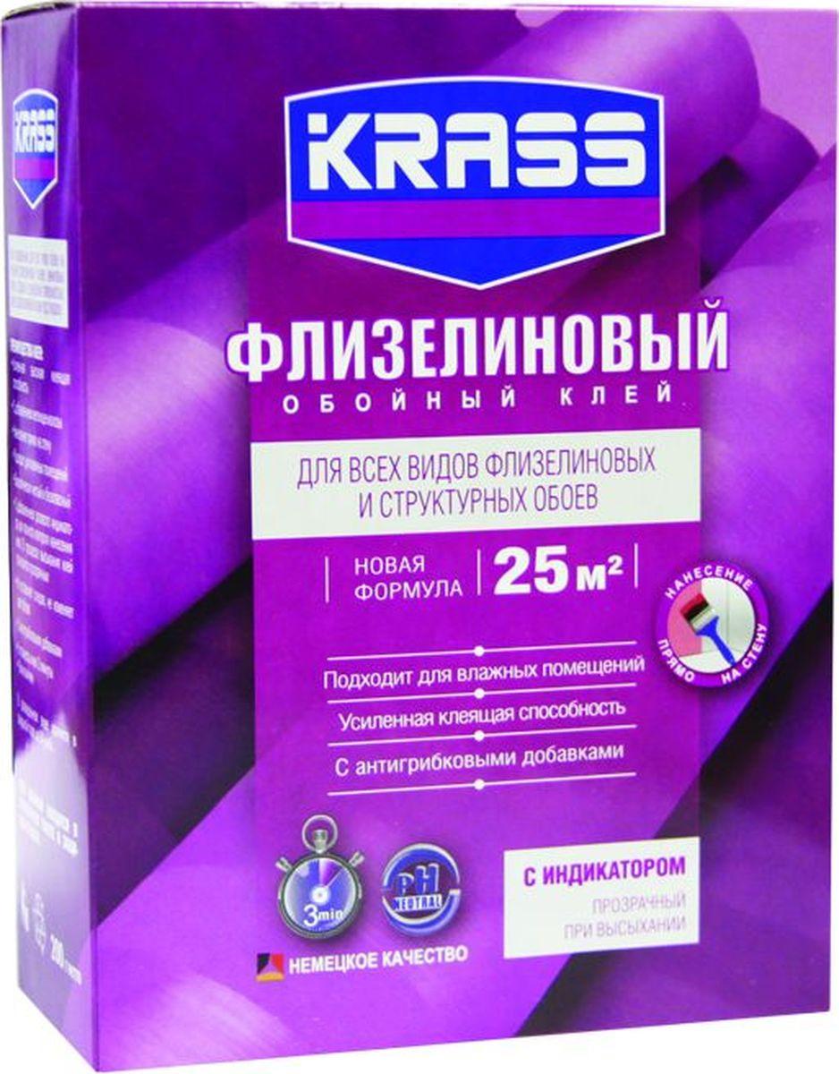 Клей Krass Флизелиновый, для обоев, 4680002595566, 200 г клей для виниловых обоев kleo smart 5 6 рулонов 150 г