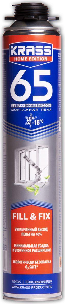Фото - Монтажная пена Krass Home Edition 65, пистолетная, 4814016002370, 0.84 л материалы для стен и потолка