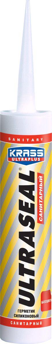 Герметик Krass Ultraseal, силиконовый, санитарный, 5902012933152, бесцветный, 260 мл Krass