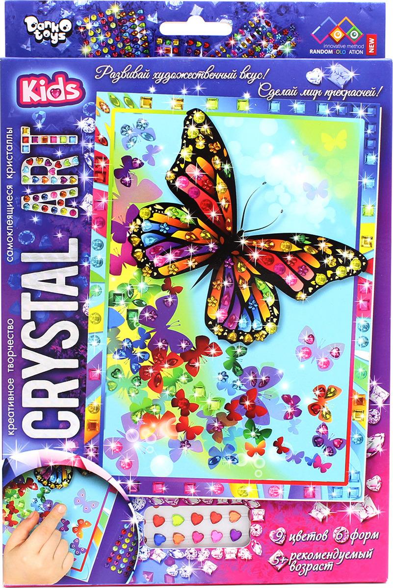 Набор для создания картины с кристаллами ДанкоТойс Crystal Art Бабочки, Cart-01-02