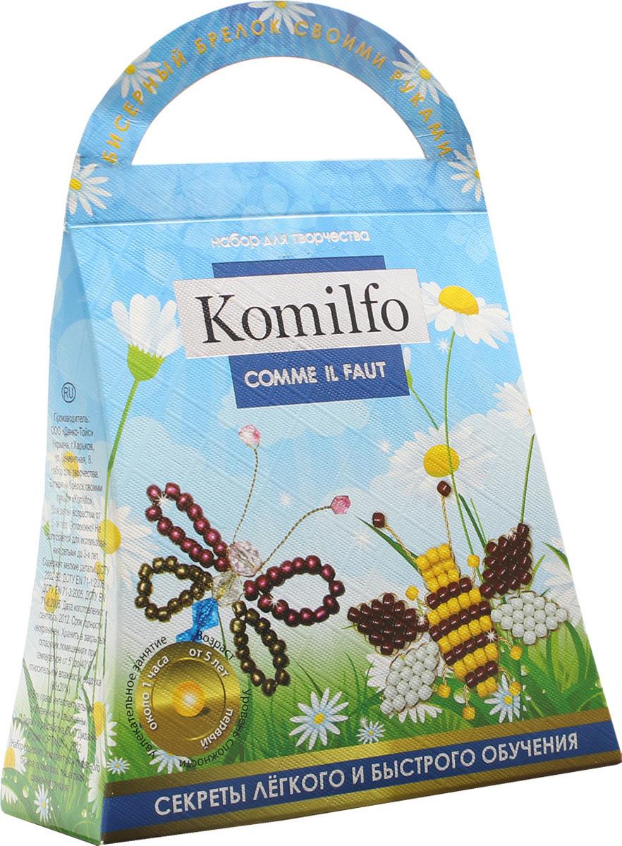 Набор для создания украшений ДанкоТойс Комильфо Пчелка и бабочка, Кб-01-10 набор для сладкого чаепития пчелка
