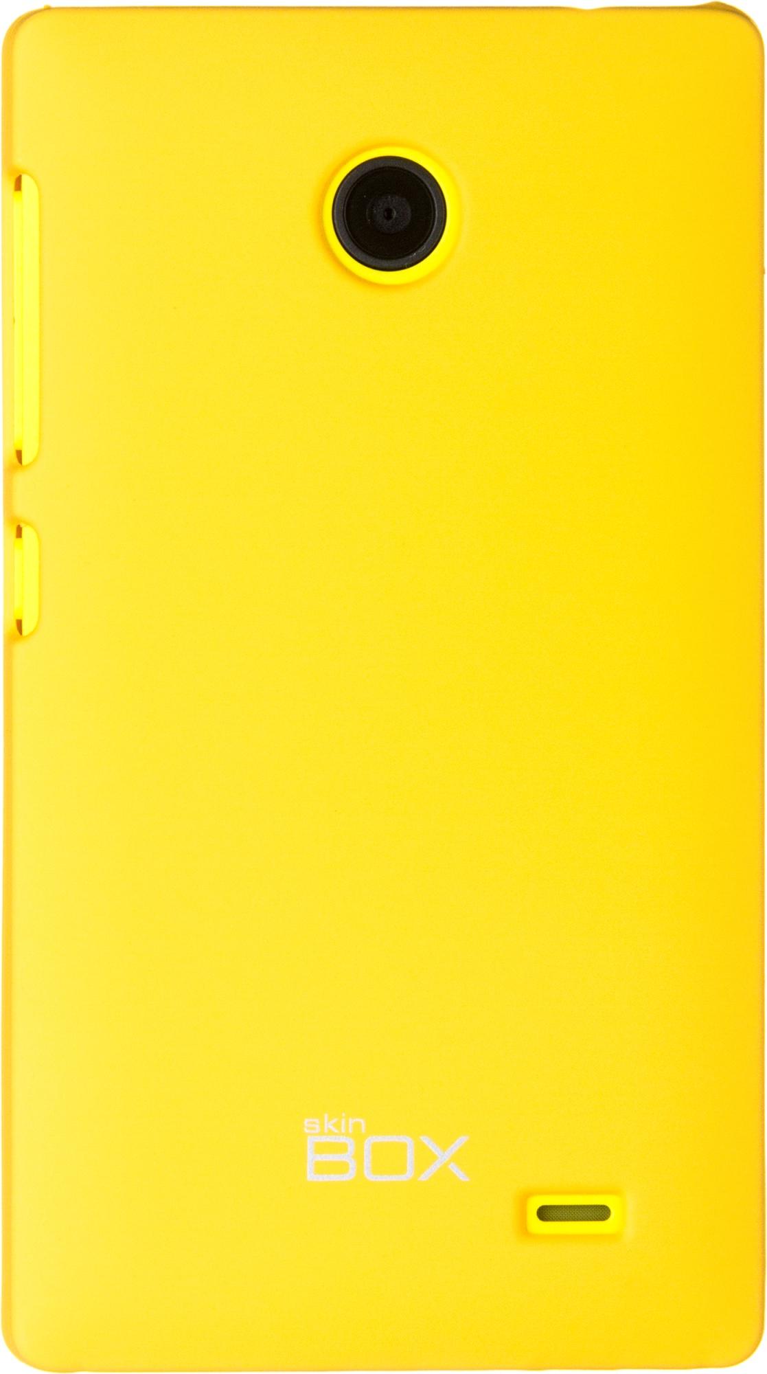 Накладка skinBOX для Nokia X желтый флип кейс euro line vivid для nokia x x