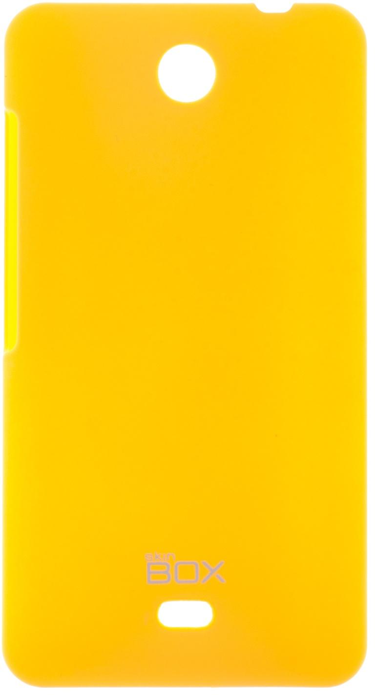 Накладка skinBOX для Microsoft Lumia 430 желтый все цены