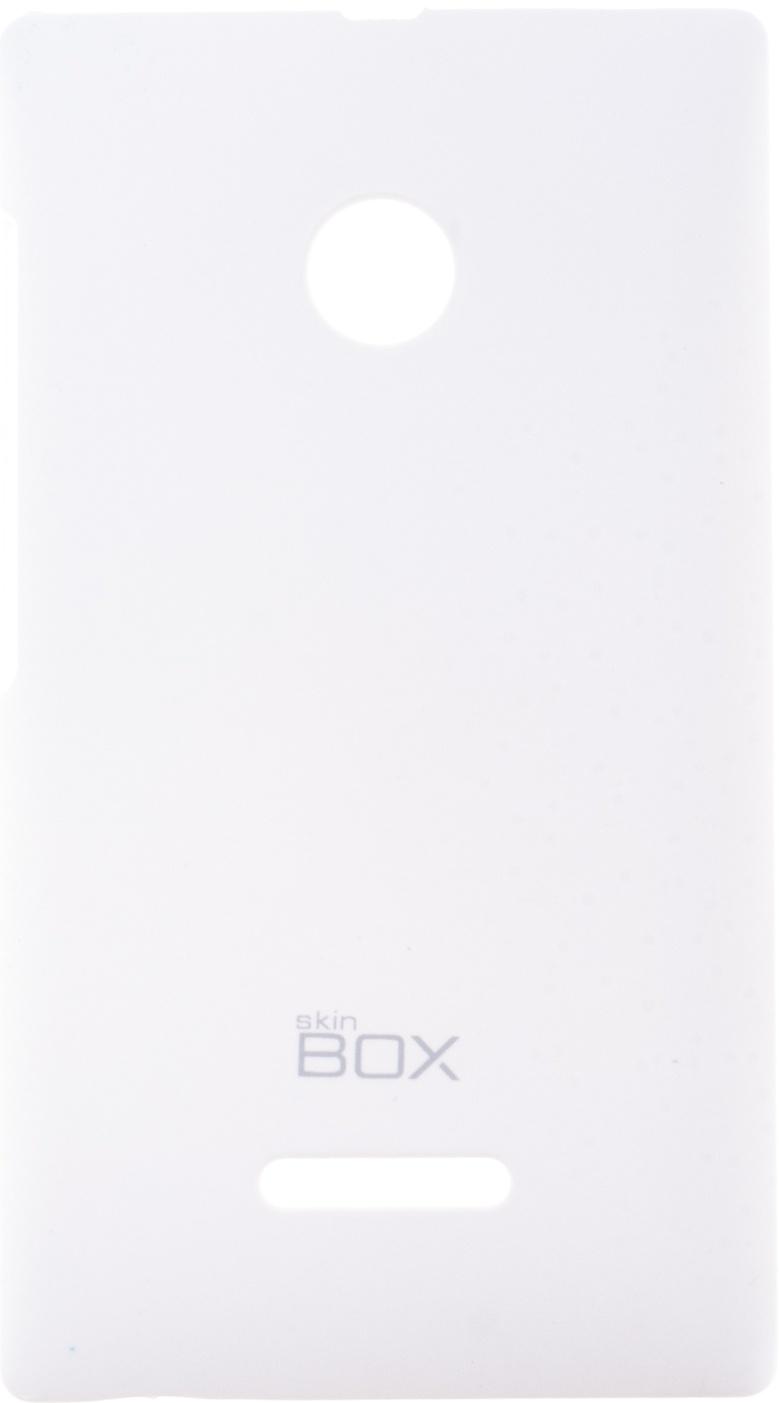 Накладка skinBOX для Microsoft Lumia 435/532 белый чехол книжка для microsoft lumia 532 с магнитной застежкой золотой armor m