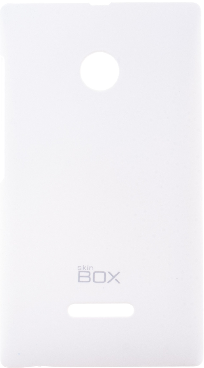 Накладка skinBOX для Microsoft Lumia 435/532 белый цены