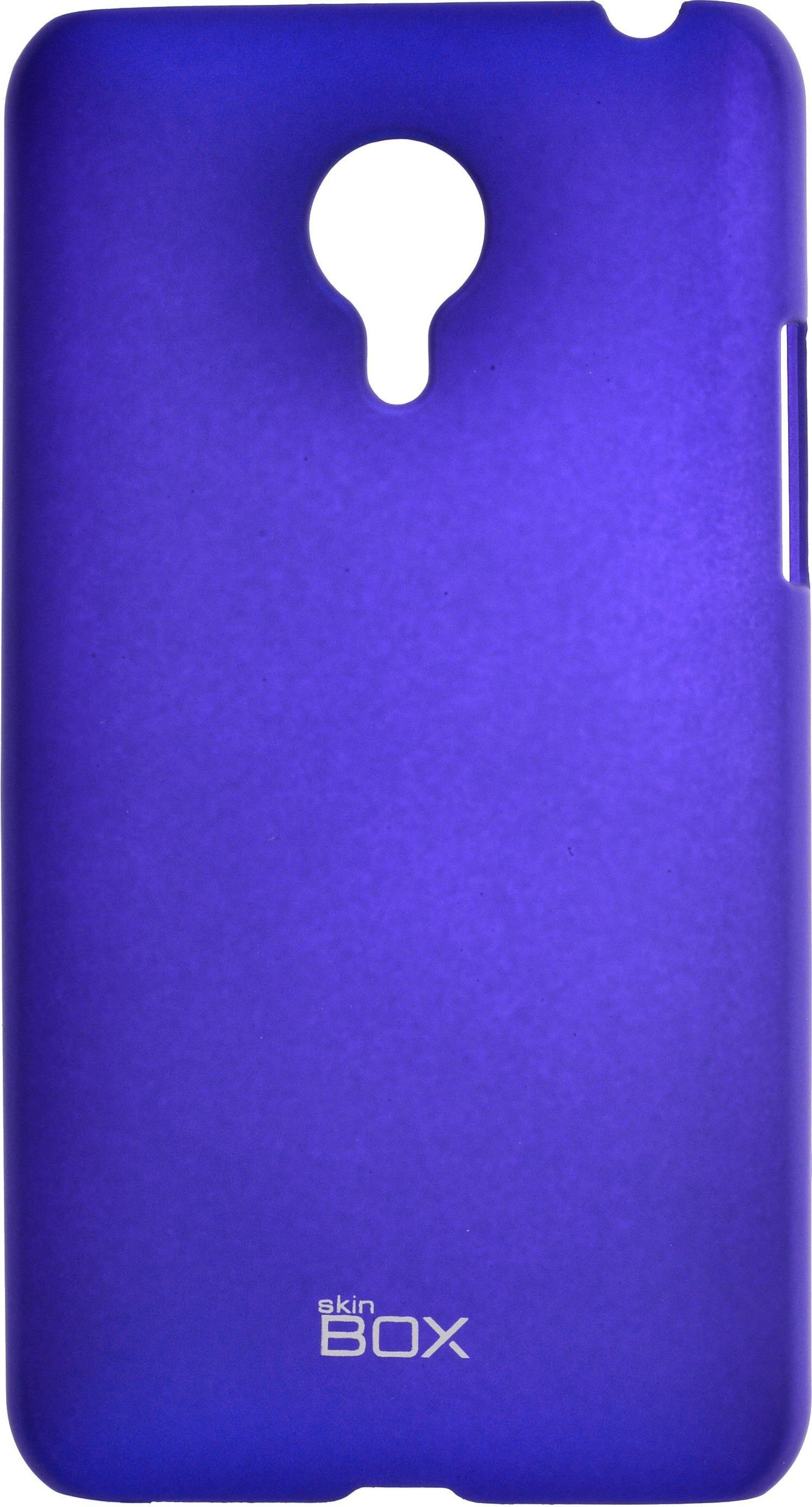 Накладка skinBOX для Meizu MX4 синий цена 2017