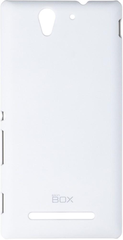 Накладка skinBOX для Sony Xperia C3 белый wierss розовый для sony xz2