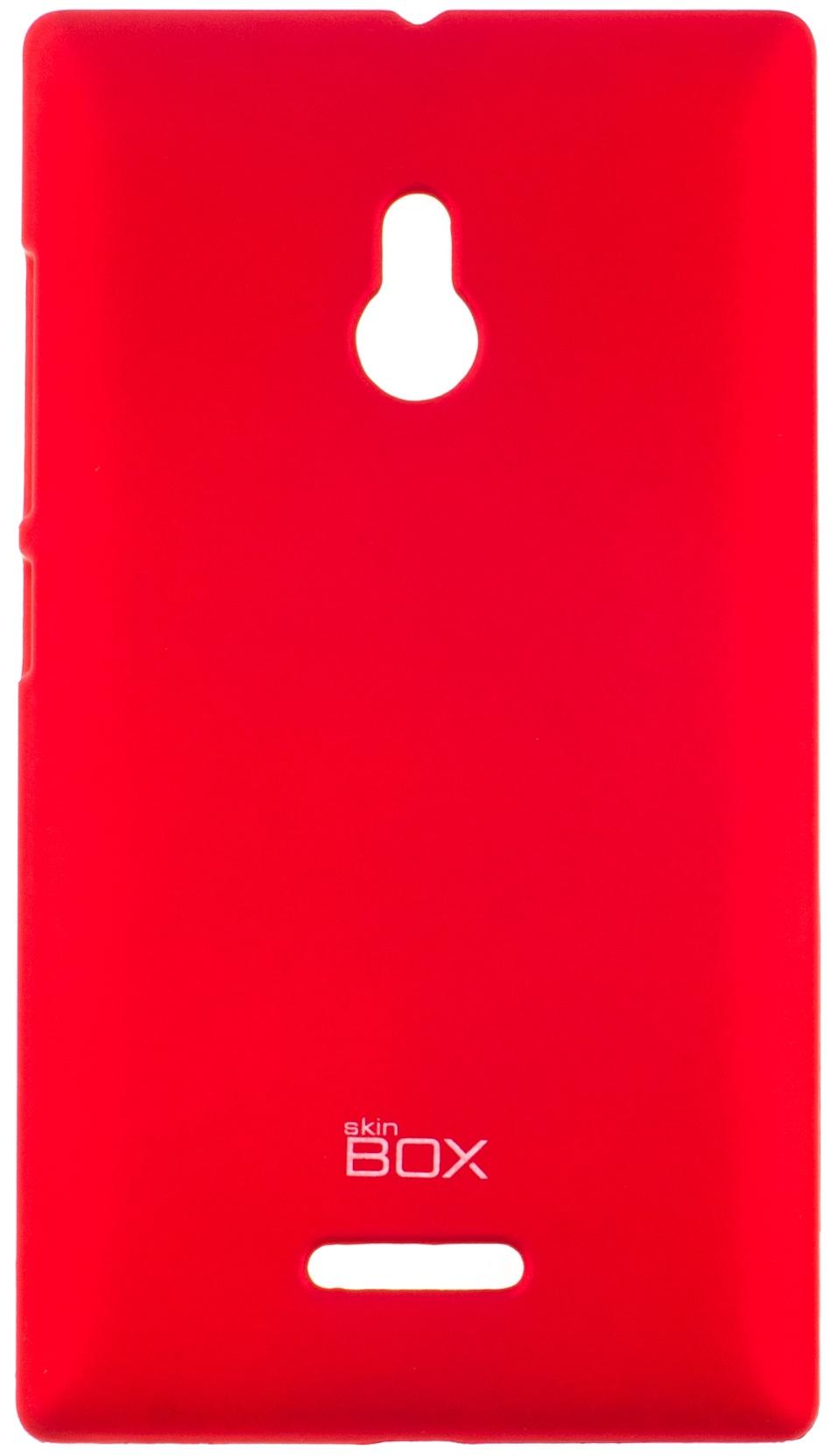 Накладка skinBOX для Nokia XL красный