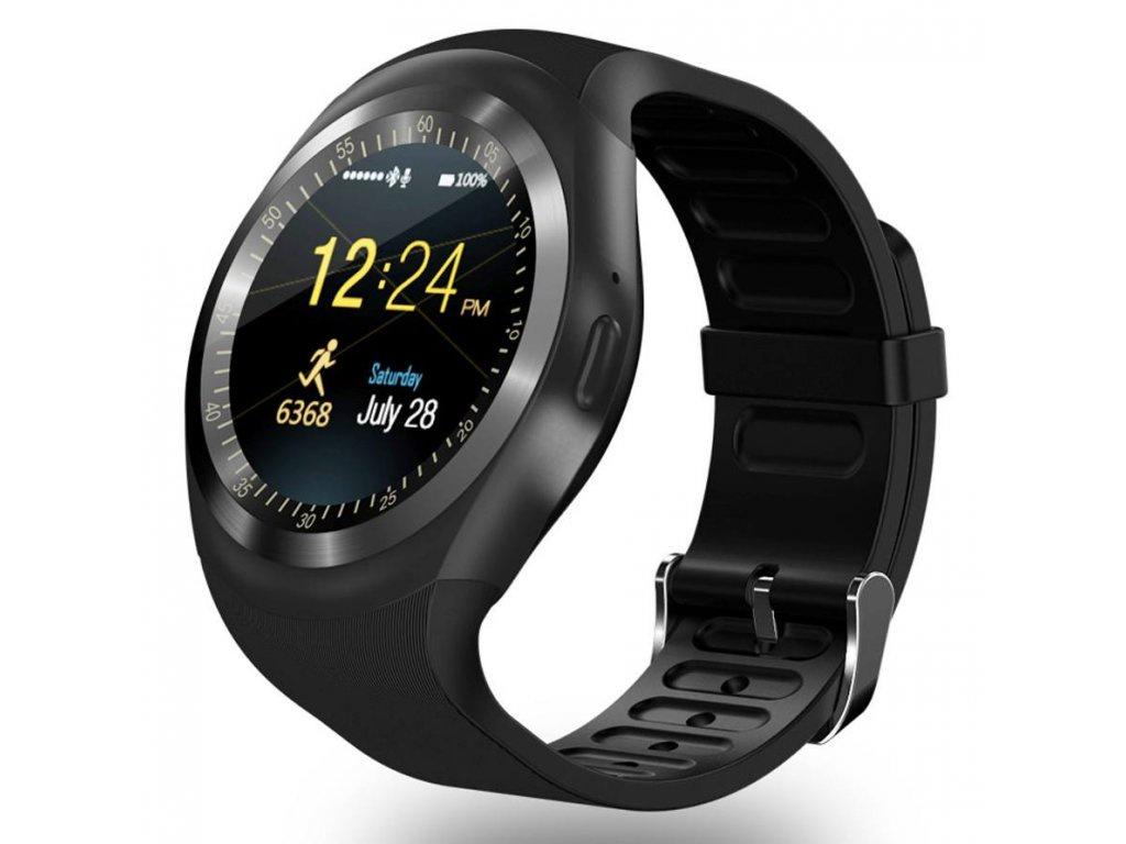 Умные часы ZDK Y1 (Android, IOS, Динамик, Микрофон, SIM, Черные) стоимость