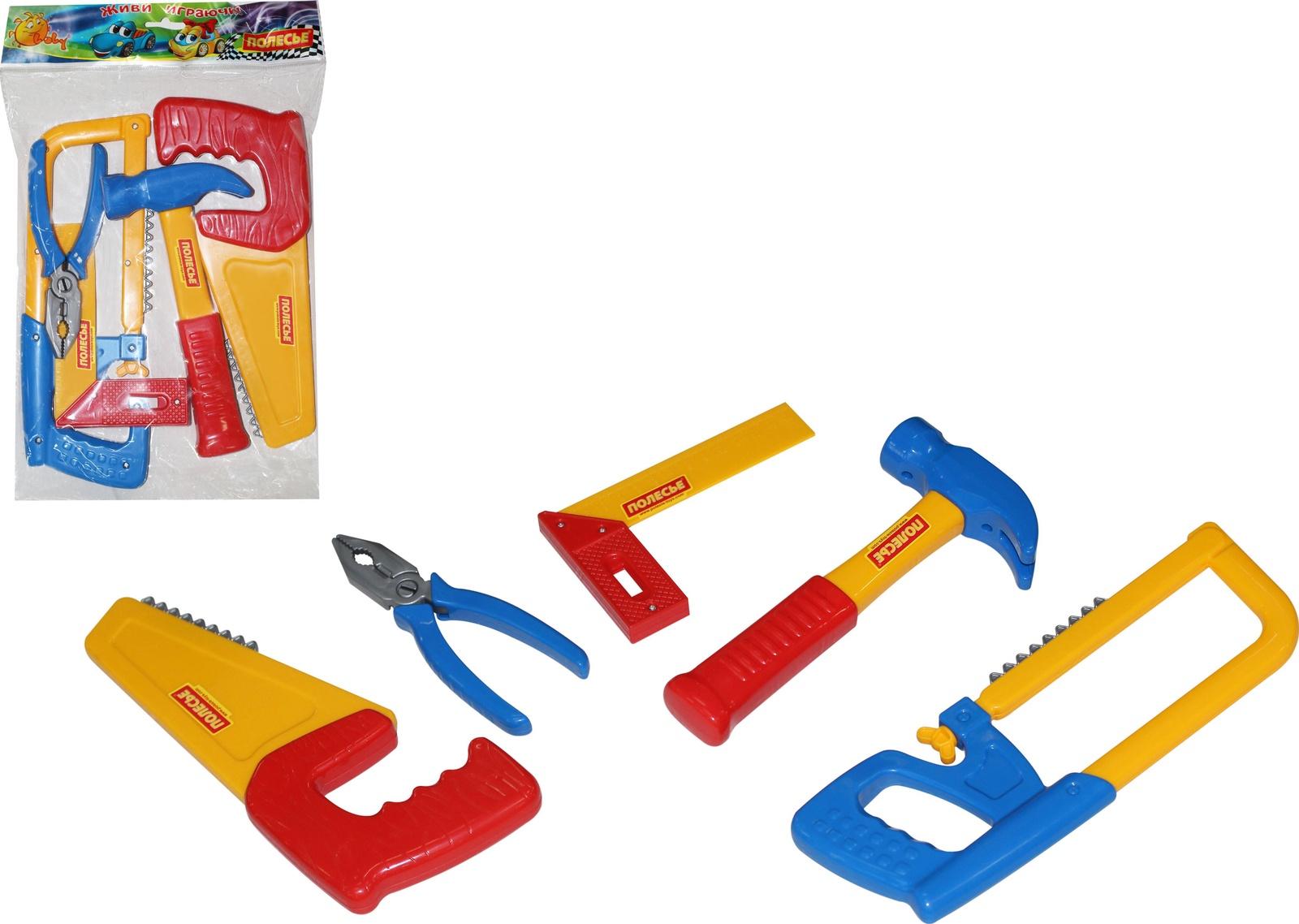 Набор инструментов Polesie №11, 53763_PLS, желтый, синий, красный цена и фото