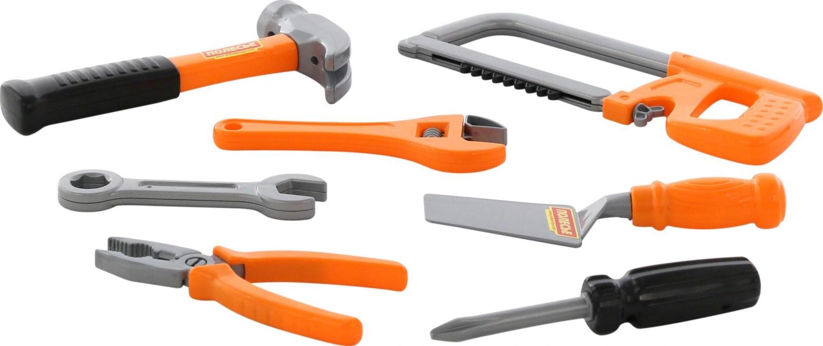 Набор инструментов Polesie №14, 59291_PLS, оранжевый, серый, черный цена и фото