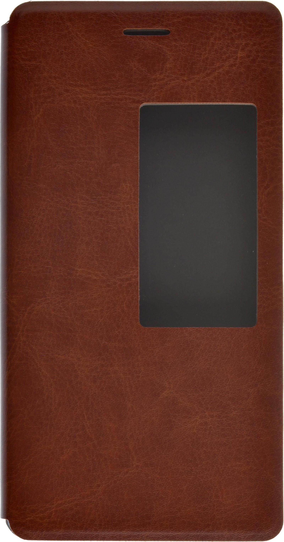 Чехол SkinBox Lux AW для Huawei P8, 2000000079967, коричневый цена
