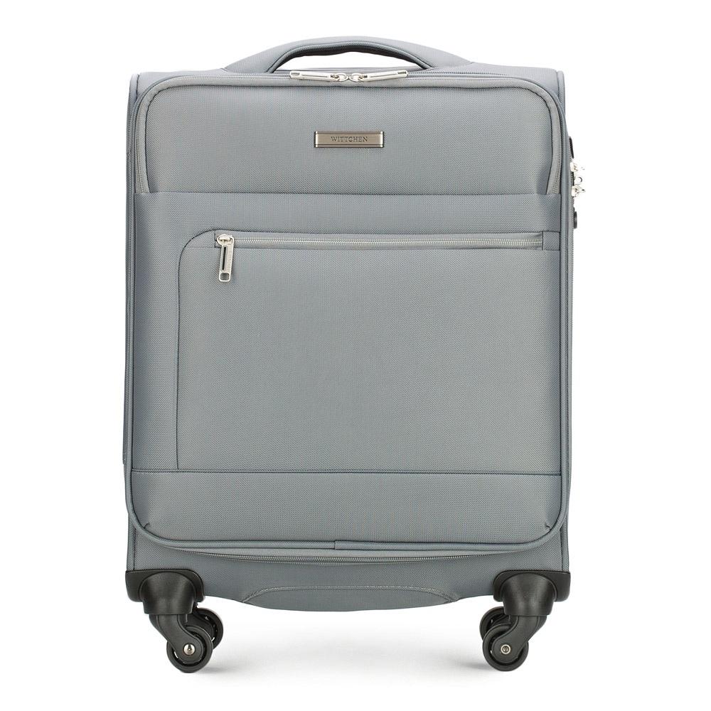 Чемодан Wittchen 56-3S-621, серый чемодан wittchen 56 3s 631 56 3s 631 13 черный