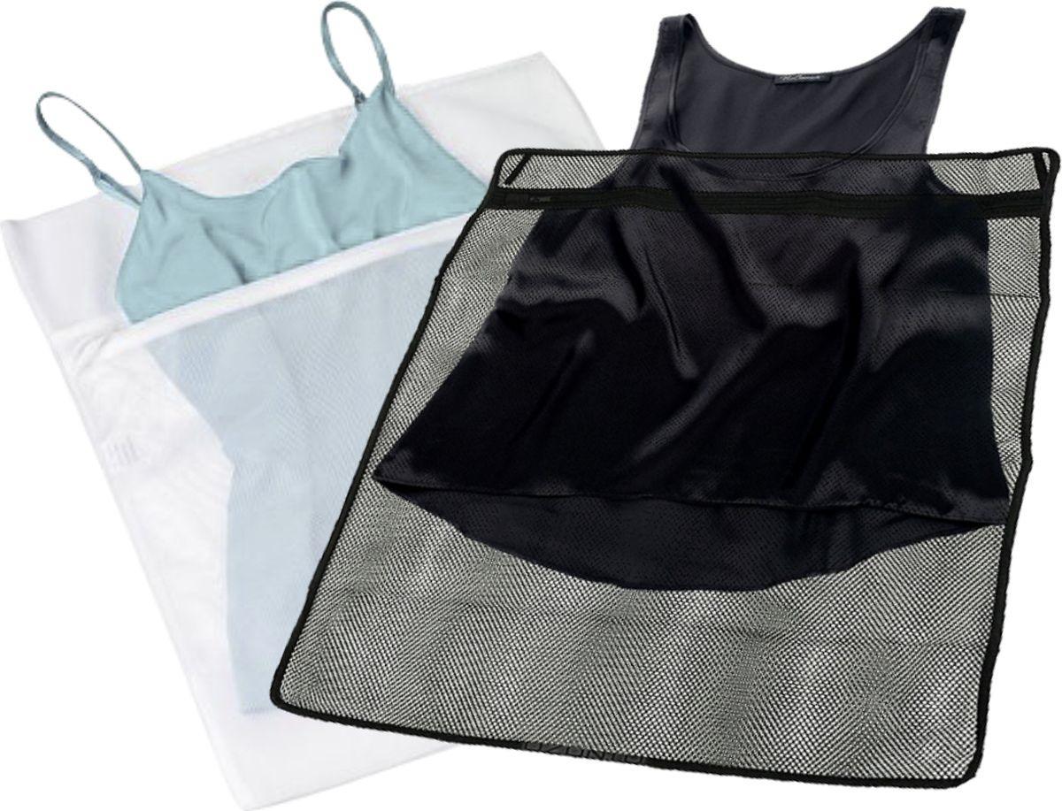 Набор Eva мешок для стирки светлого белья + мешок для стирки темного белья, на молнии, Е283, 38 х 50 см