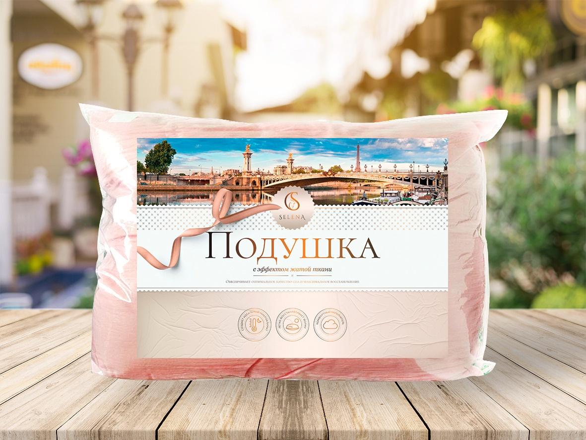 Подушка Crinkle line 50х70 см (розовый) plus lace applique crinkle top