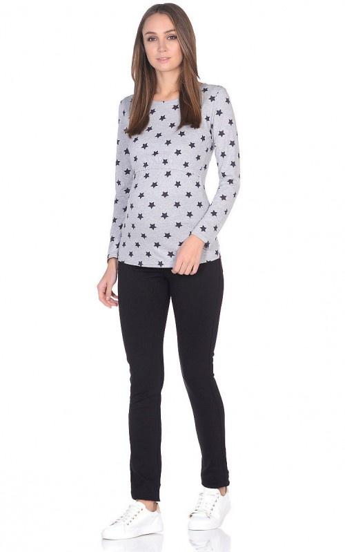Джемпер 9месяцев 9дней блуза для беременных и кормящих мам nuova vita 1304 09