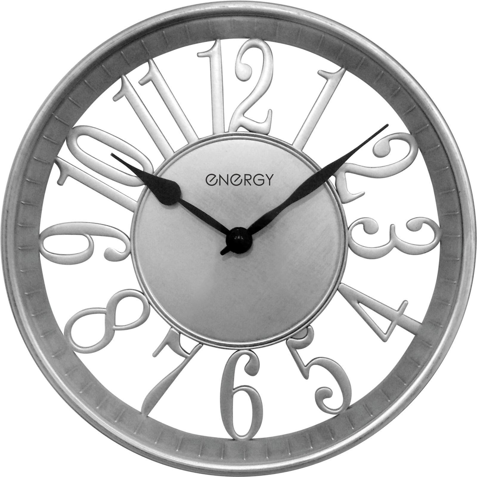 Настенные часы Energy серебряный цена 2017