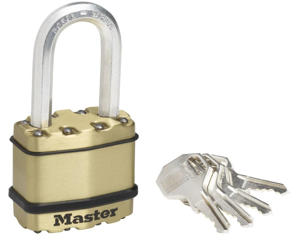 Замок MasterLock Навесной EXCELL™ A8/B38/C20/W45 сталь+латунь/8-бор-ст 2 4п 4к, M1BEURDLF замок masterlock навесной excell™ a10 b51 c20 w54 ст 8 бор ст 2 4п 4к m830eurdlh