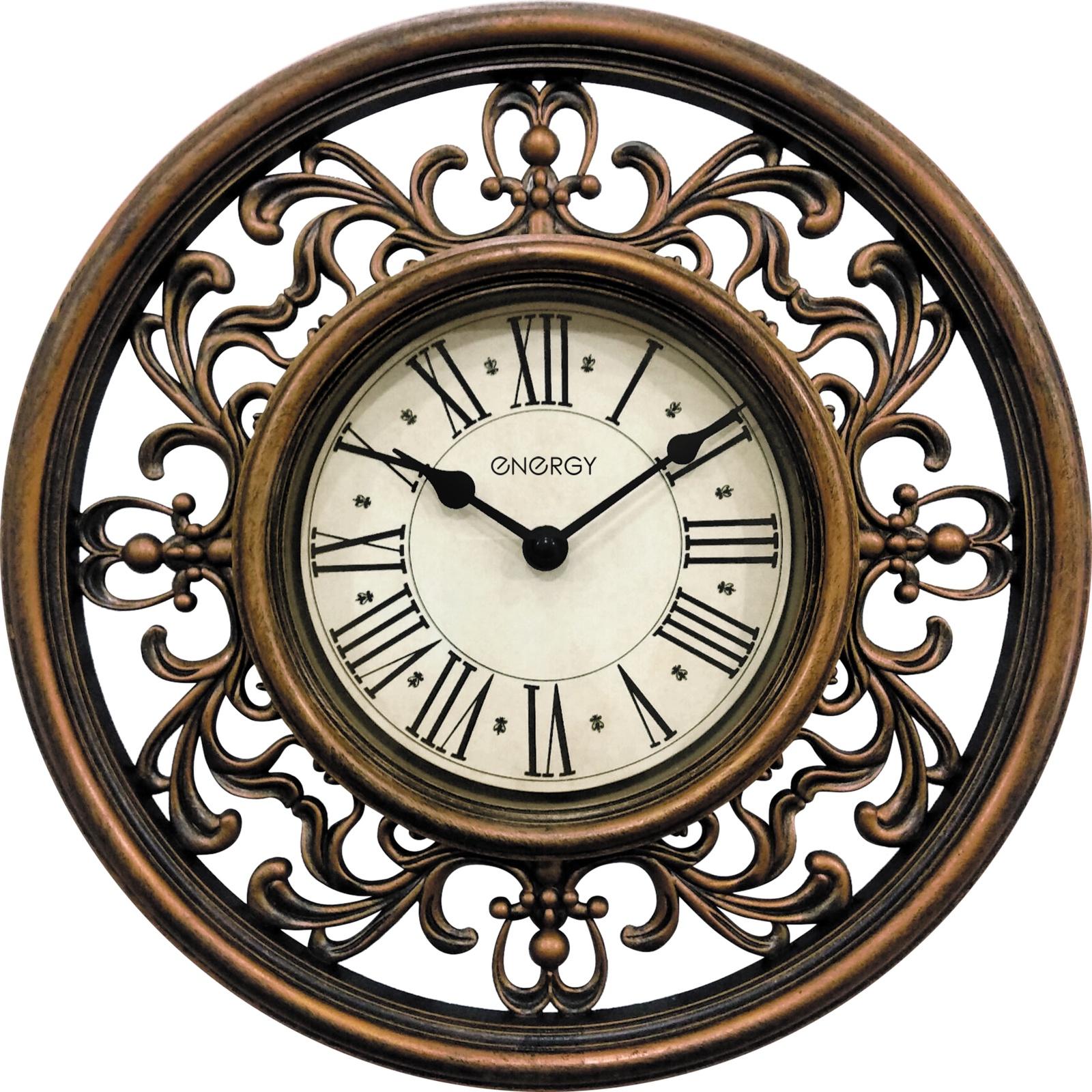 Настенные часы Energy коричневый цена 2017