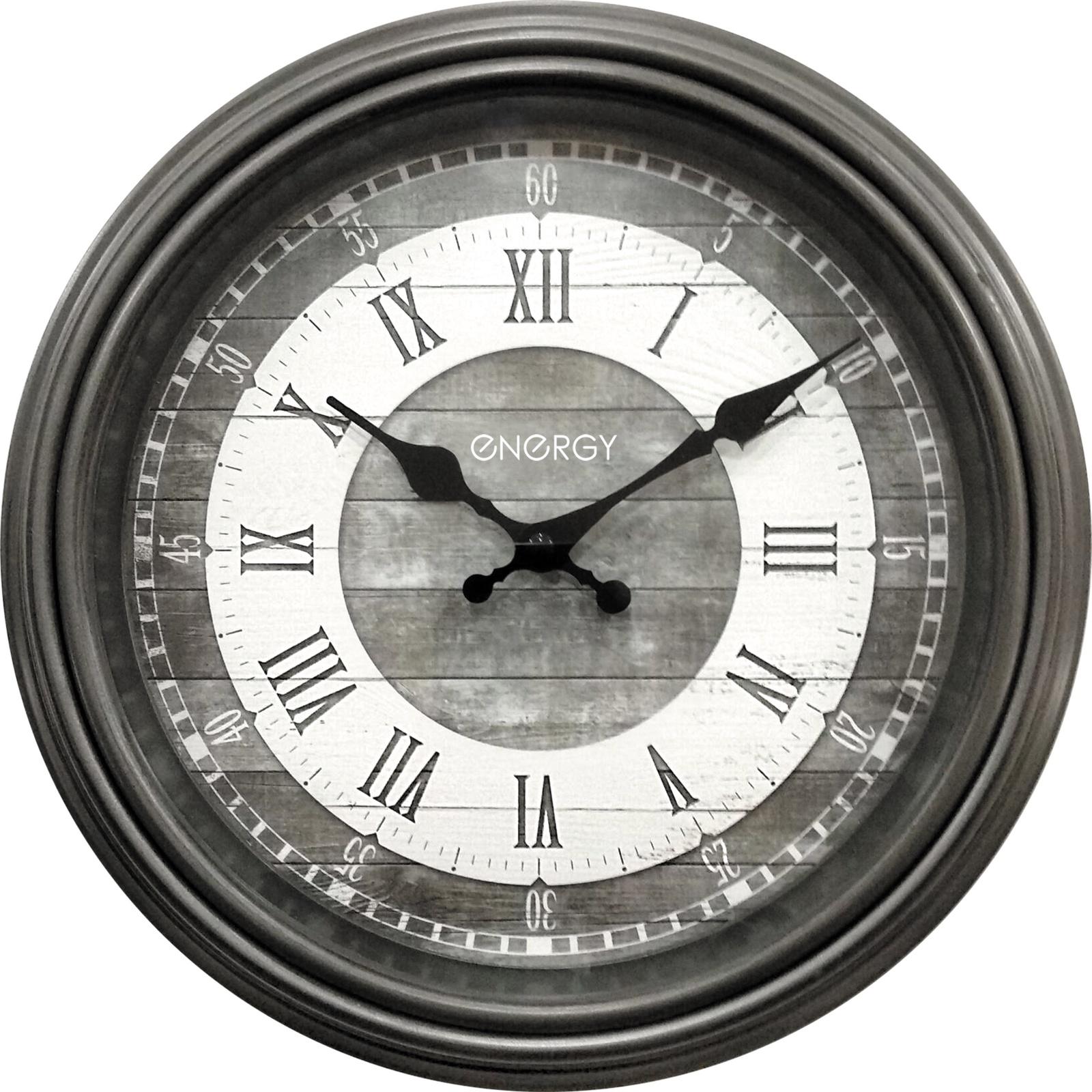 Настенные часы Energy серый цена 2017
