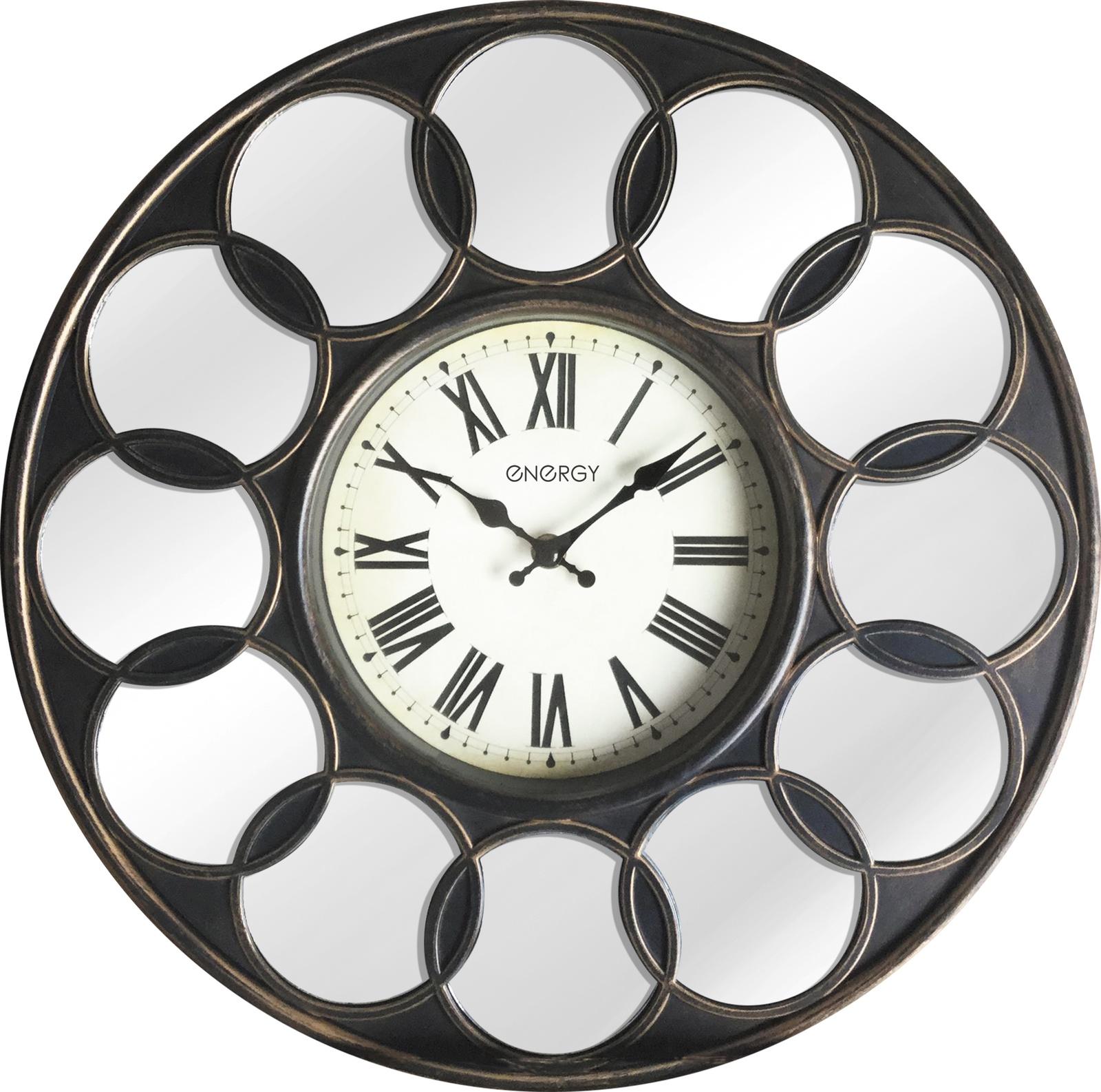 Настенные часы Energy под бронзу цена 2017