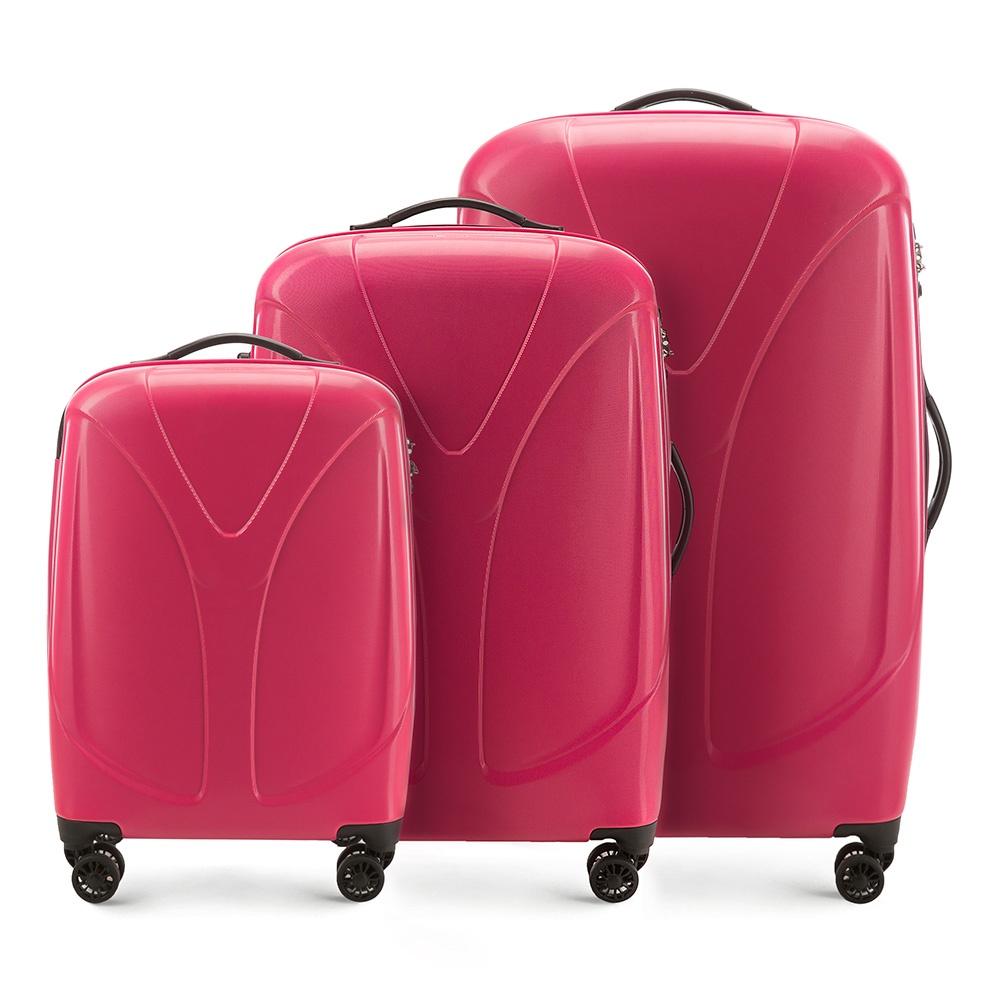 Комплект чемоданов Wittchen 56-3P-95S, красный вентилятор компьютерный aerocool motion 8 blue 3p motion 8 blue 3p 80