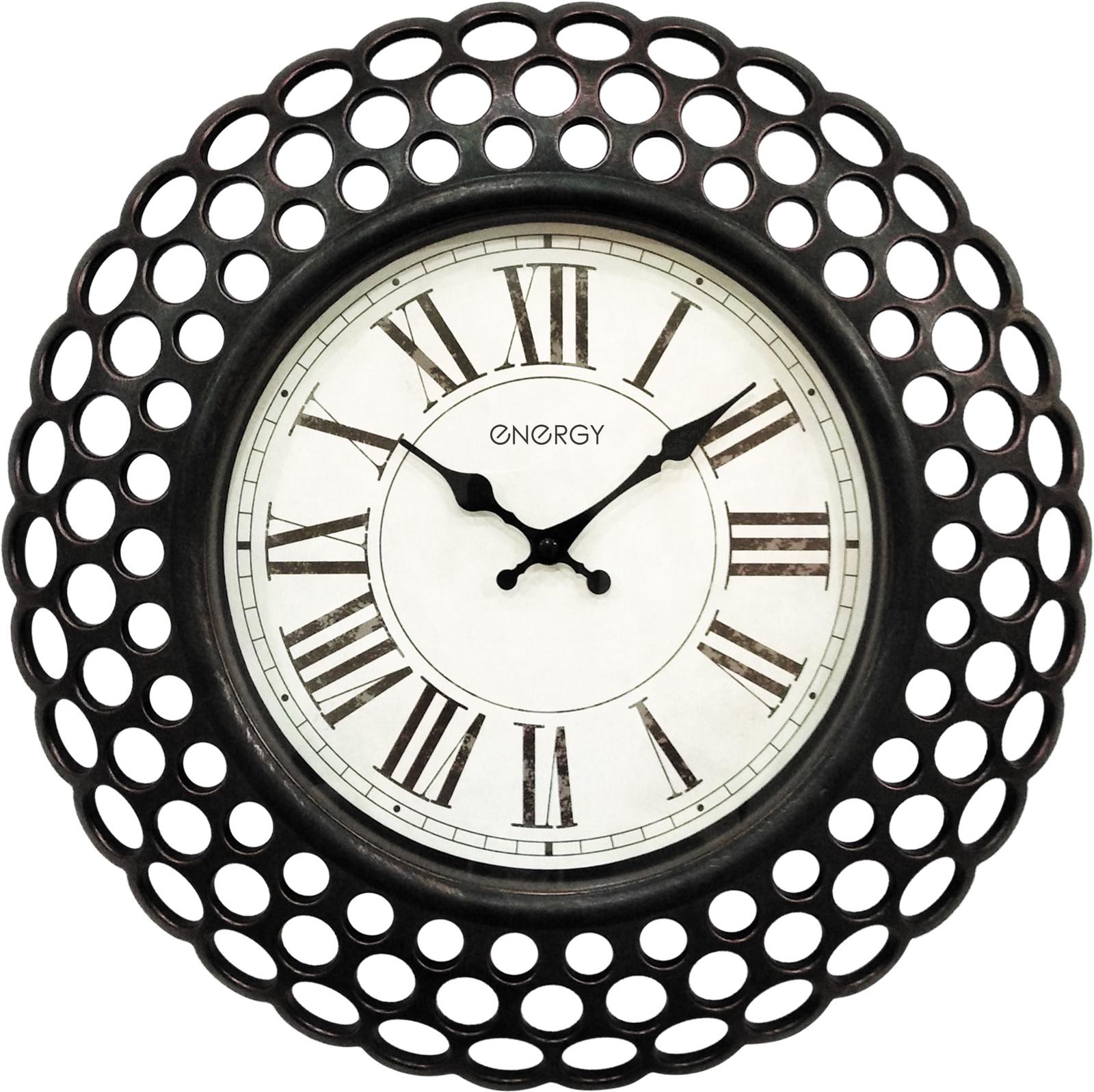 Настенные часы ENERGY ЕС-126, 54 009500, черный цена