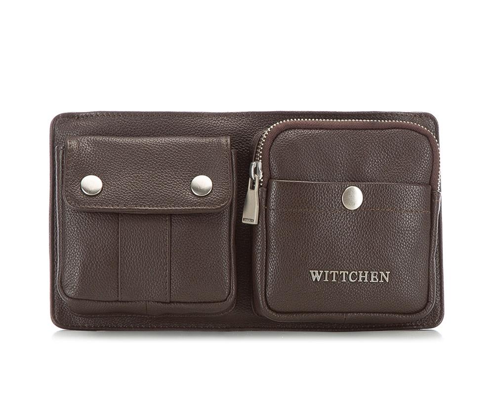 Барсетка Wittchen 82-4U-613, темно-коричневый mexican модный классический длинный мужской кошелёк бычьей кожи барсетка