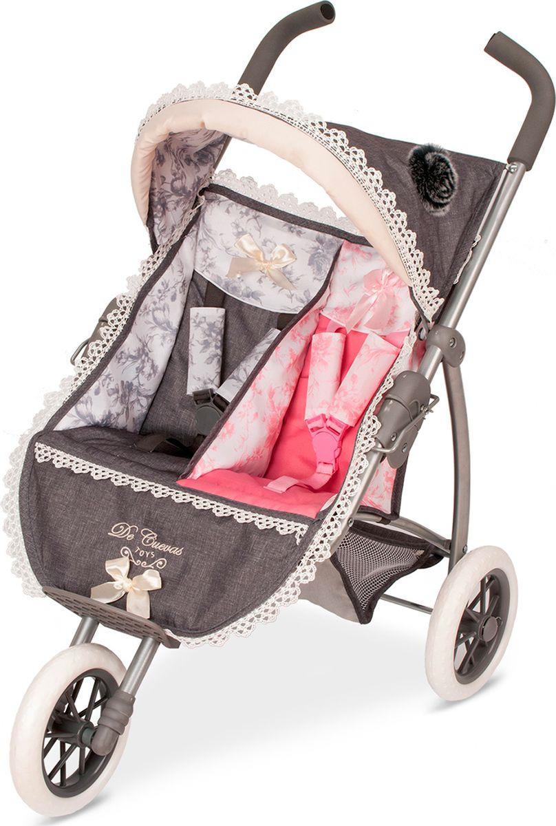 Коляска-трость для кукол DeCuevas Реборн, 90311, для двойняшек, 75 см decuevas коляска трость для кукол decuevas романтик 75 см