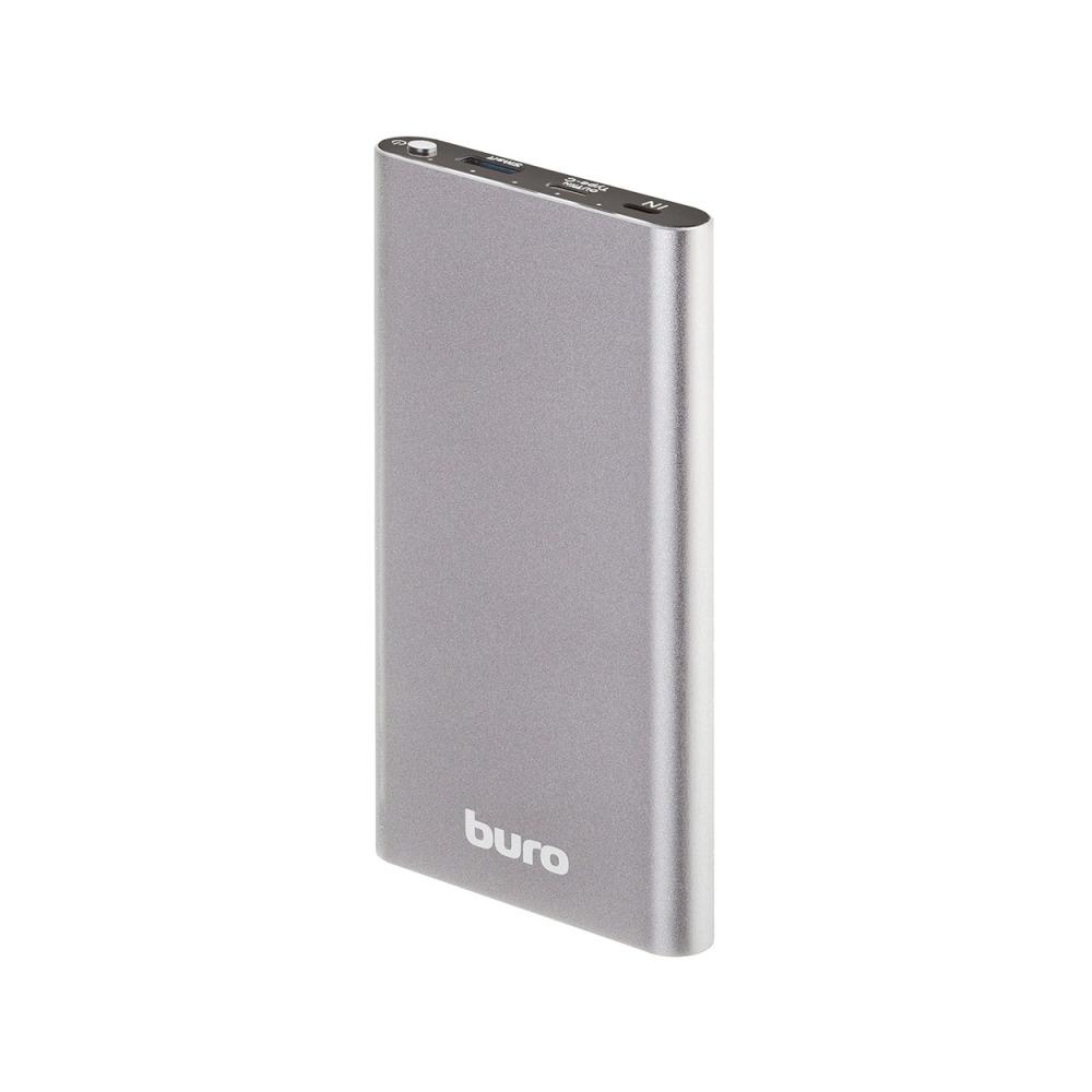 Мобильный аккумулятор Buro RB-10000-QC3.0-I&O Li-Pol 10000mAh 3A+1.5A серебристый 2xUSB 60020685322 i o connectors 68p female straight mr li